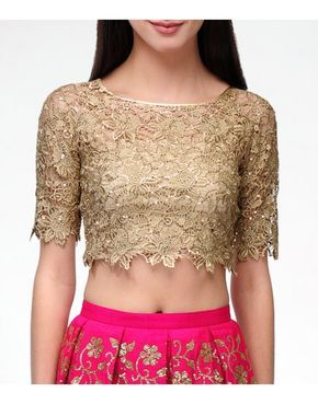 8a0b37865f Lace Gold Crop Top - Blouses - Clothing | Bedroom ideas in 2019 ...