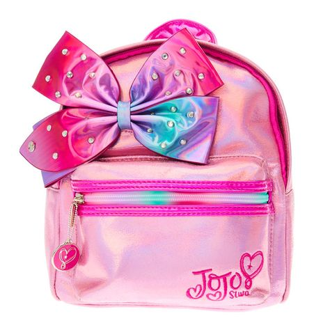 online shopping for Jojo Siwa Pink Shimmer Bedazzled Bow Mini Backpack (Claires Exclusive) from top store. See new offer for Jojo Siwa Pink Shimmer Bedazzled Bow Mini Backpack (Claires Exclusive)