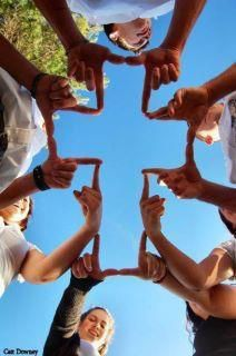 Thumb and finger group cross. Creative idea! I originally saw this on Facebook, but couldn't find the original source.