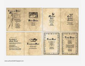 photo relating to Harry Potter Spells Printable called Quirky Artist Loft: Cost-free Printable Doll Spell E-book Spell