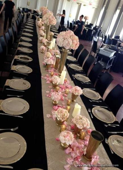 27 Ideas Wedding Table Gold Pink Black White Rose Gold