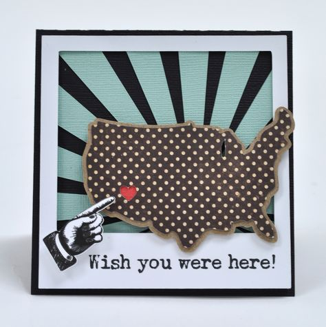 Silhouette Blog: Thursday's Sketch - Wish You Were Here Card