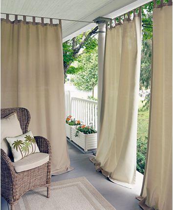 Elrene Matine Solid Indoor Outdoor 52 Outdoor Curtain Panels Indoor Outdoor Curtains Patio Curtains