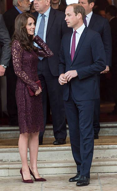 LONDON, ENGLAND - OCTOBER 21: Prince William, Duke of Cambridge and Catherine, Duchess of Cambridge attend