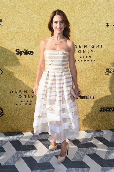 Hilaria Baldwin attends 'Spike's One Night Only: Alec Baldwin'  at The Apollo Theater.