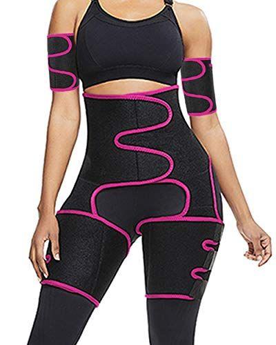 4 in 1 Elastic Band S-7XL Arm and Thigh Waist Trainer for Women,Butt Lifter High Waist Enhancer Waist Trimmer Plus Size
