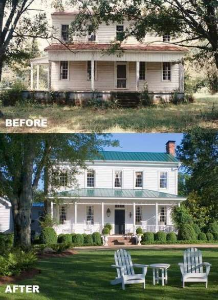 Impressive Starting A Remodeling Business Ideas Farmhouse Renovation Farmhouse Remodel Home Exterior Makeover