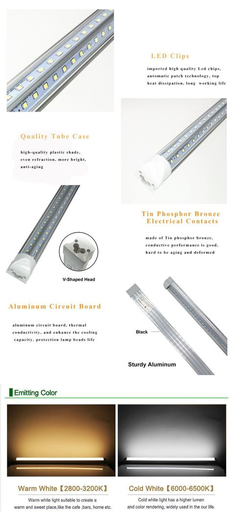 Replacement 48W Fluorescent Lamp R17D Rotatable HO Base 4FT LED Tube Light 20W