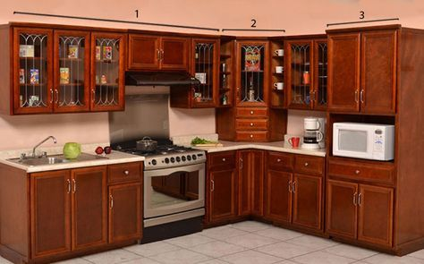 gabinetes de cocina de madera Cocina Pars Escuadra Tendencias Muebles Y Decoracin