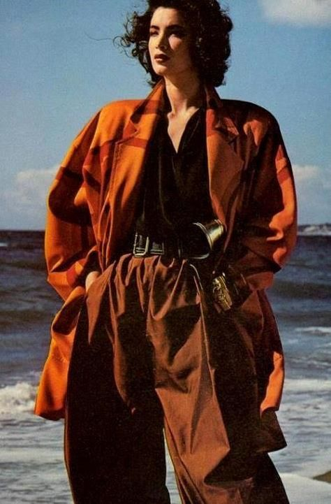 Best 80's Fashion Look : Linda Spierings by Herb Ritts - Vogue US March 1985
