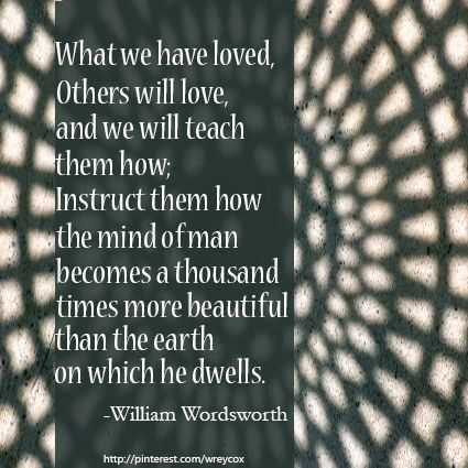 From The Prelude By William Wordsworth Favorite Book