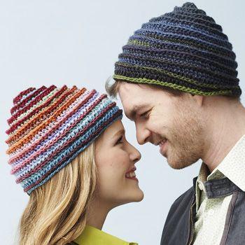Bernat Mosaic - Spiral Hat (crochet)