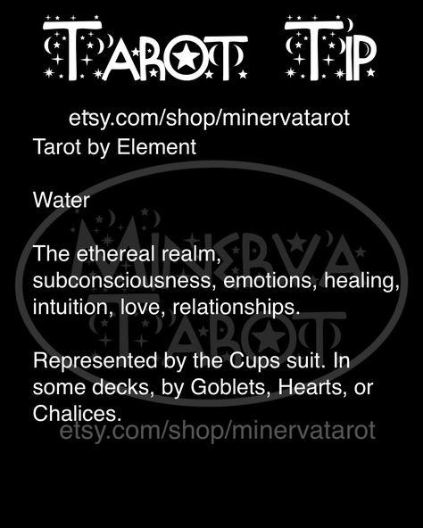 Element: 💧#minervatarot #tarot #theworld #witch #witchcraft #tarotcards #tarottip #tarotreader #tarotreading #witchy #halloween #mystical #etsy #witchvibes #spooky #october #feminist