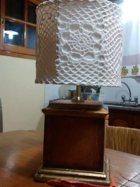 crochet, manualidades , decoraciones para el hogar, lámpara #crochet #craft #handmade #knit #Embroidery