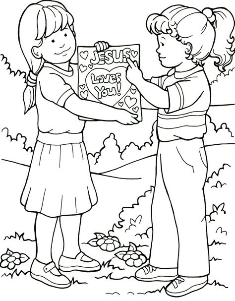Best Friends Coloring Page Cute Coloring Pages Coloring Pages