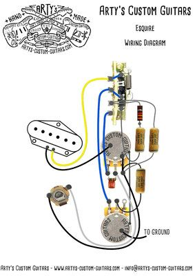 Wiring Harness Esquire Tele Telecaster Fender Esquire Custom Guitars