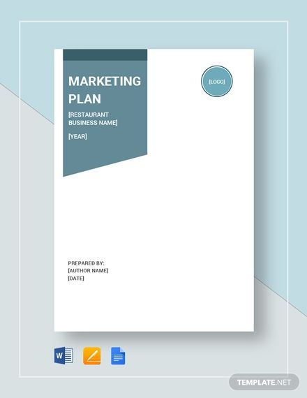 Restaurant Marketing Plan Template Word Google Docs Apple Pages In 2020 Restaurant Marketing Plan Marketing Plan Template Marketing Plan Example