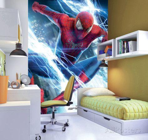 The Amazing Spider Man 2 Deco Wallpaper Mural Wallpaper Mural At Allposters Com Mural Wallpaper Wall Murals Kids Wallpaper