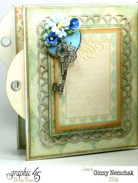 Babies hold the key to our heart! This Baby 2 Bride album is by the amazing Ginny #graphic45