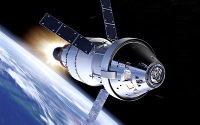 Download Wallpapers Satellite Orbit Open Space Earth Modern