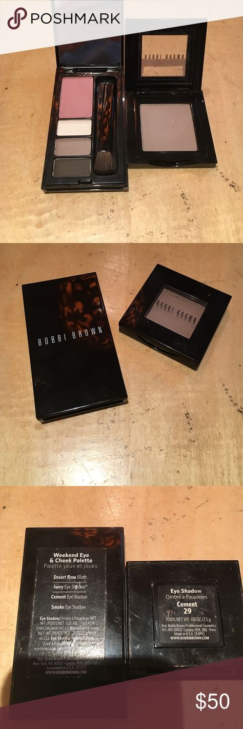 Bobbi brown eyeshadow palette Bobbi brown eyeshadow palette! Weekend eye and cheek palette.palette has never been touched. Packaging slightly dirty from makeup bag. Feel free to ask any questions! Will trade for other high end makeup! 😘🚫 THE SINGLE SHADOW SHOWN IS ALREADY TRADED, IT WILL NOT COME WITH THIS LISTING! 🚫 Bobbi Brown Makeup Eyeshadow