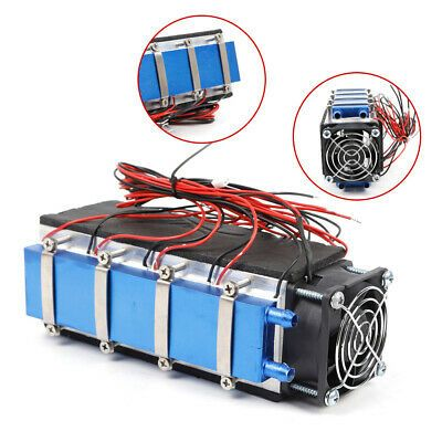 Details About 576w 8 Chip Diy Thermoelectric Peltier Cooler Refrigeration Air Cooling Device In 2020 Diy Cooler Digital Thermostat Cool Stuff
