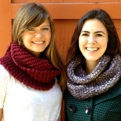 Two beginner-friendly patterns for cute and cozy circle scarves.