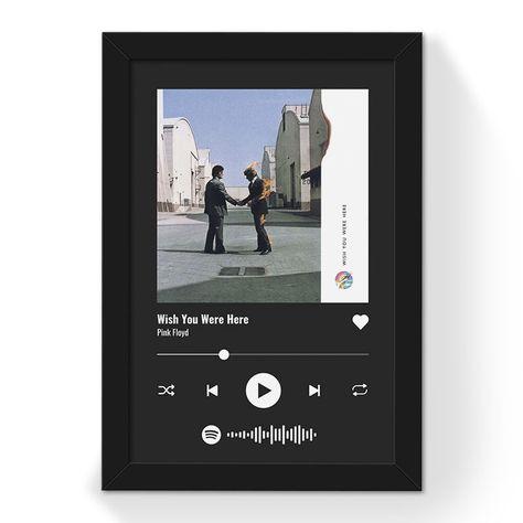 Quadro Interativo Musica Spotify Personalizavel Enquadrarte Quadro Interativo Quadros Molduras De Quadros