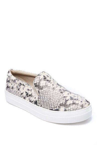 84d79f85961 Steve Madden Gills Natural Snakeskin Slip On Sneaker | ❤️ Fall ...