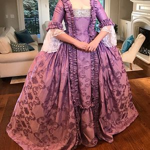 POLONAISED with full under skirt. Heavy brocade and taffeta | Etsy in 2021  | Historical dresses, Gowns, Dresses