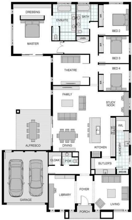 House Design Architecture Floor Plans Garage 15 Trendy Ideas Dream House Plans Home Design Floor Plans Bedroom House Plans