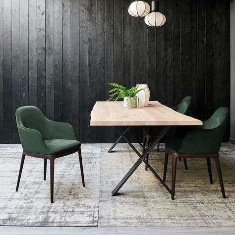 Form Dining Armchairs With Pixel Solid Oak Dining Table