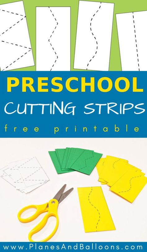 Preschool cutting strips – Diy-and-Crafts Motor Skills Activities, Preschool Learning Activities, Preschool Lessons, Preschool Worksheets, Fun Learning, Fine Motor Activity, Toddler Activities, Pre School Activities, Cutting Activities For Kids