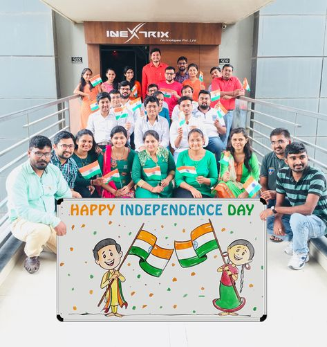 """""""Freedom in the mind, faith in the words, pride in our souls, Let's Salute the Nation""""  We celebrated Independence Day in advance at our office, Where all the team members enthusiastically participated and portrayed their love for the nation.   #IndependenceDayIndia #IndependenceDay2018 #IndependenceDay #Proud #Freedom #Celebration #iNextrix #ITPL #LifeatITPL"""