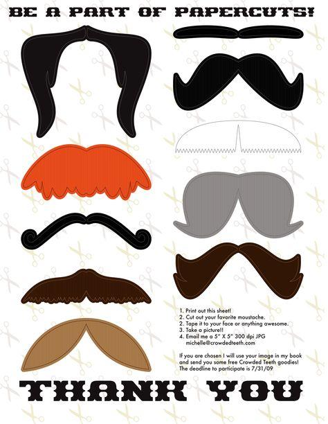 PRINTED mustache printable