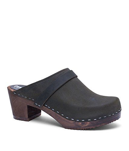 Sandgrens Swedish High Heel Wooden Clog