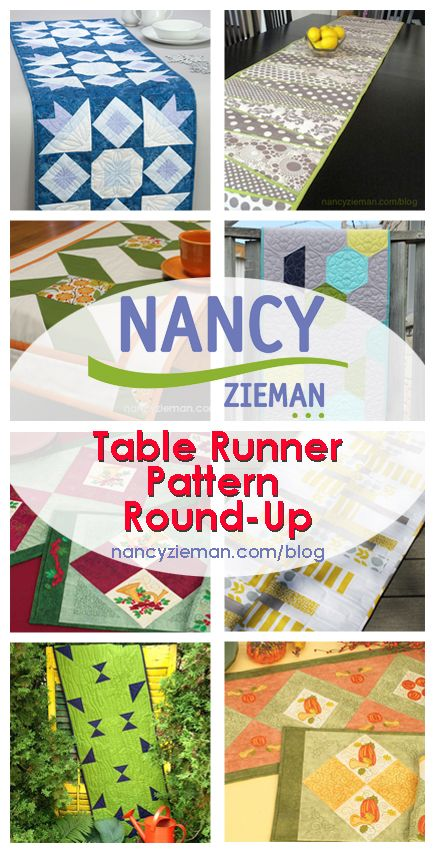 Nancy Zieman's Table Runner Sewing and Quilting Pattern Round-up