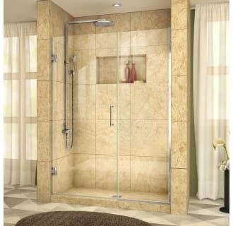 Dreamline Shdr 245807210 04 Brushed Nickel Unidoor Plus 72 High X 58 1 2 Wide Hinged Frameless Shower Door With Clear Glass Shower Doors Black Shower Doors Frameless Shower Doors