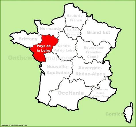 Pays de la Loire location on the France map   Maps