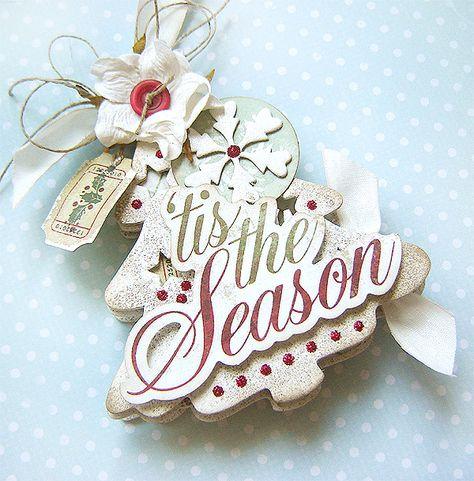 Christmas Tree - card - Scrapbook.com - This is stunning. #scrapbooking #cardmaking #holiday #mayaroad #rangerink #