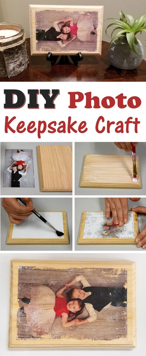 DIY Wood Photo Transfer Keepsake Craft - S&S Blog