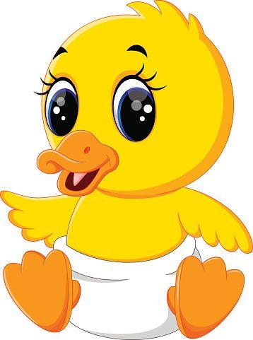 Illustration Of Cute Baby Duck Cartoon Utenok Multfilmy Illyustracii