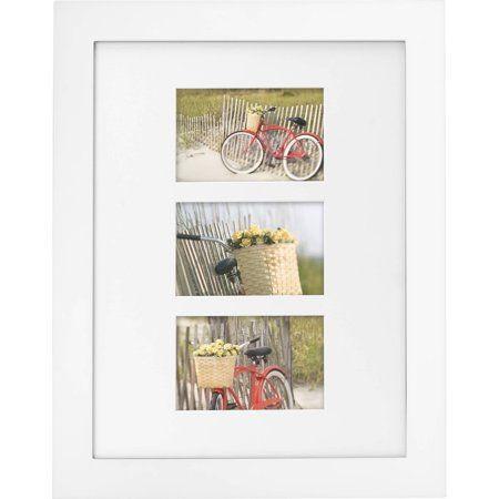 Mainstays Museum 12 X 16 Matted For Three 4 X 6 Openings Picture Frame White Walmart Com Picture Frames White Picture Frames Wall Decor Pictures