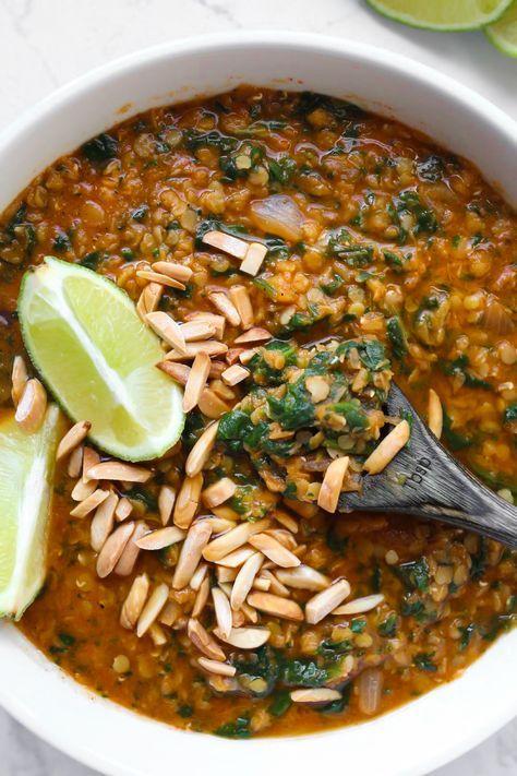 Lazy Red Lentil Curry Soup