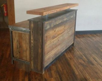 7 Rustic S Couter Reception Desk Or Dry Bar By Foobars Pinterest Desks Bars And