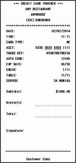 Credit Card Receipt Template Fresh 11 Credit Payment Receipt Template Sampletemplatess Santa Letter Template Receipt Template Printable Cards