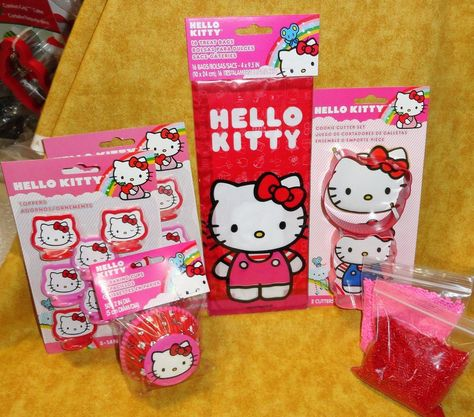 Hello Kitty,Bithday Party Kit,Bags,Tops,Sprinkles,Bake Cups,Wilton,Red,415-7575,