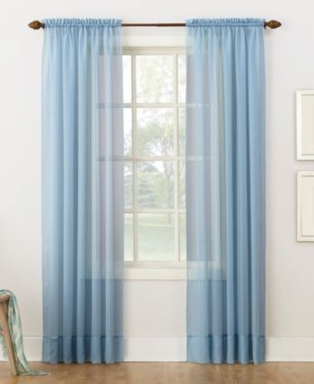 Lichtenberg No 918 Sheer Voile 59 X 84 Rod Pocket Curtain Panel Light Blue Curtains Panel Curtains Rod Pocket Curtains
