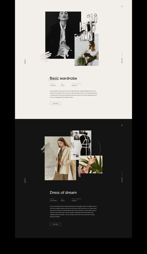 Simple Design - Simple and elegant website design layout. Love how the photos pop on the black background. Banner Web Design, Layout Design, Website Design Layout, Blog Layout, Blog Design, Best Design Blogs, Minimal Web Design, Simple Web Design, Modern Web Design
