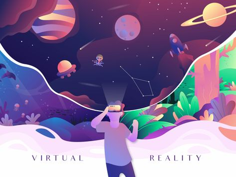 Virtual Reality designed by Fahriza. Connect with them on Dribbble; the global community for designers and creative professionals. Flat Illustration, Graphic Design Illustration, Arte Cyberpunk, Web Design, Affinity Designer, Battlestar Galactica, Bugatti Veyron, Chara, Virtual Reality